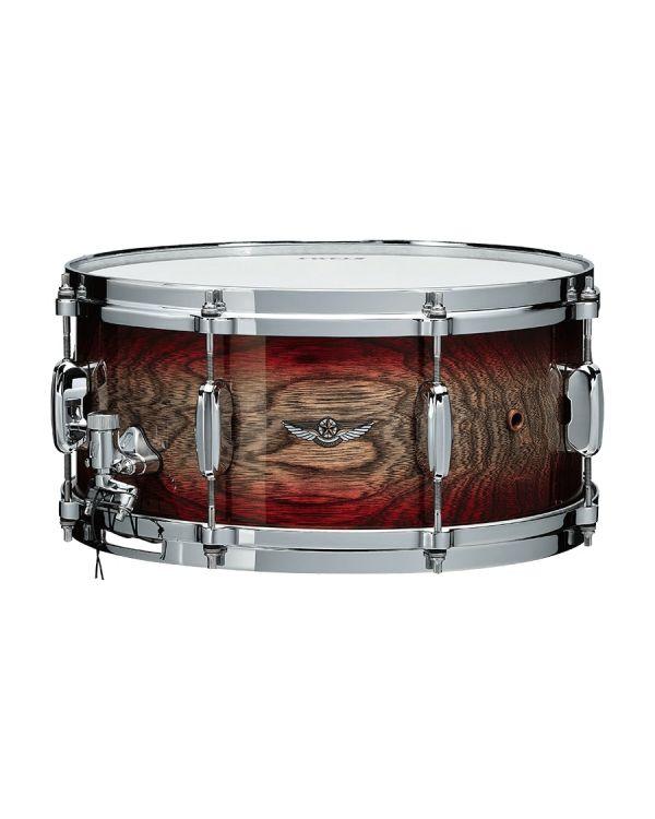 Tama Star Walnut Snare Drum 14 x 6.5 Garnet Japanese Sen Burst
