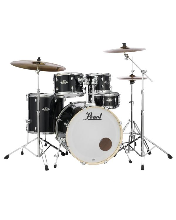 Pearl Export EXX 22 Rock Drum Kit inc Hardware Cymbals, Jet Black