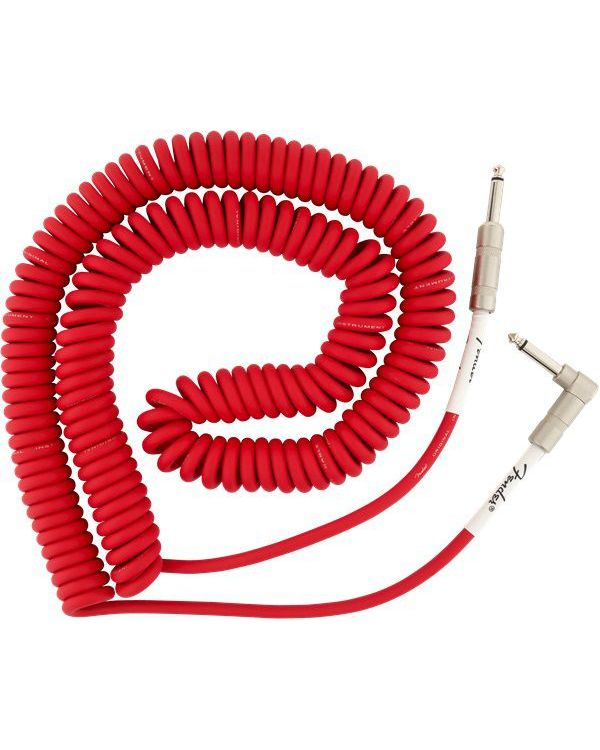 Fender 30ft / 9m Original Series Coiled Cable Angled, Fiesta Red