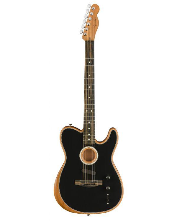 Fender American Acoustasonic Telecaster Hybrid Guitar, Black