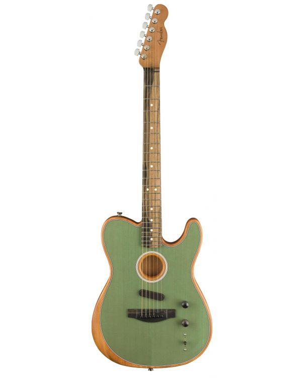 Fender American Acoustasonic Telecaster Hybrid Guitar, Surf Green