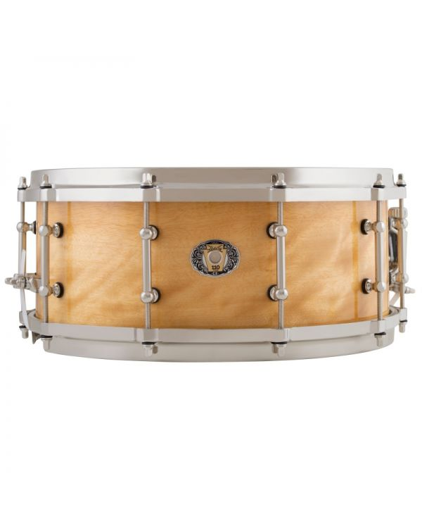"""Ludwig 110th Anniversary Aged Exotic Avodire 14"""" x 5.5"""" Snare Drum"""