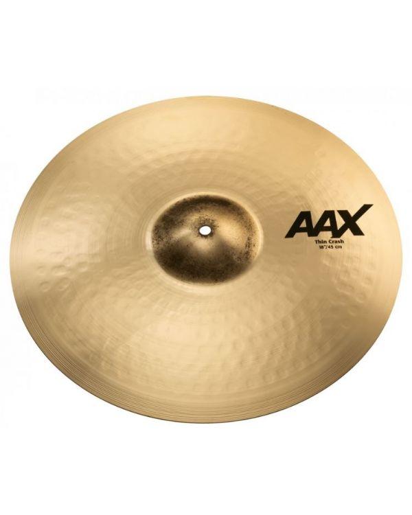 """Sabian AAX 18"""" Thin Crash Cymbal Brilliant"""