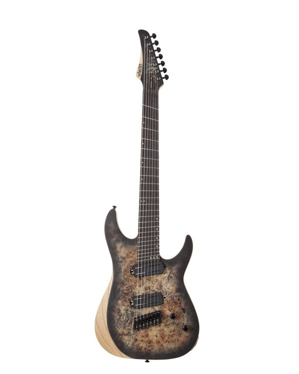 Schecter Reaper-7 Multi-Scale Charcoal Burst 7 String Guitar