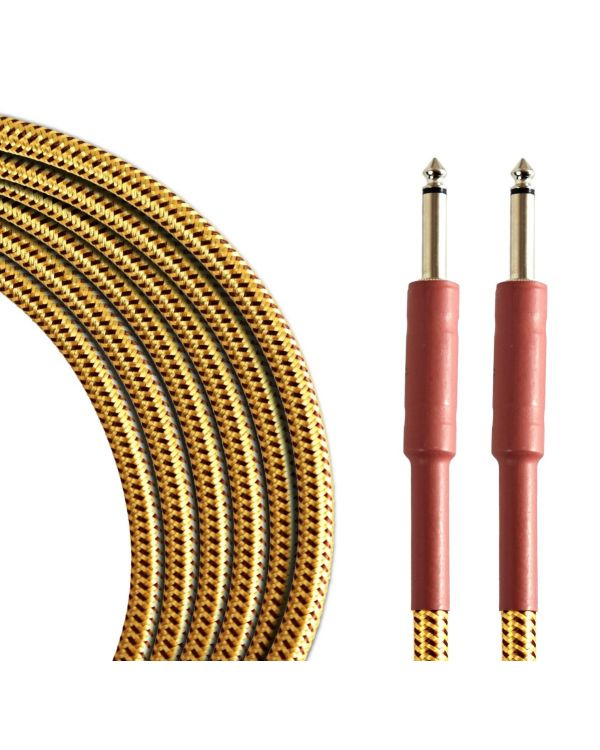 TOURTECH Pro Straight Guitar Cable, 6m, Tweed