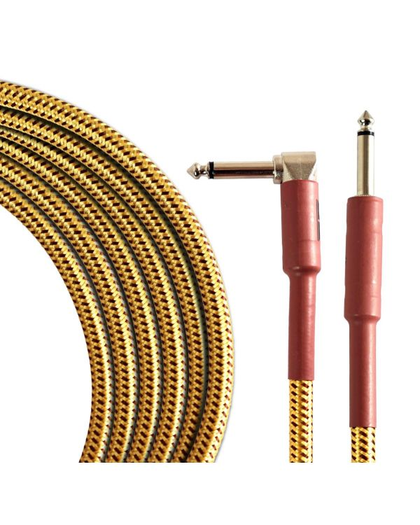 TOURTECH Pro Angled Guitar Cable, 6m, Tweed