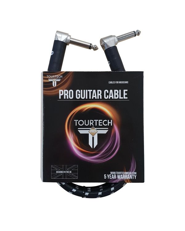TOURTECH Pro Angled Patch Cable, 60cm, Black & Grey