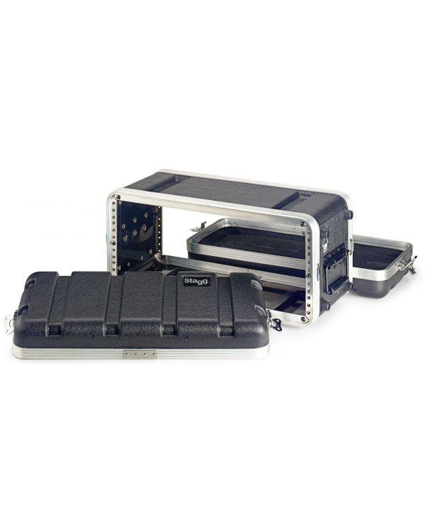 Black Rat ABS-4US ABS Four Unit 19 Inch Shallow Rack Case