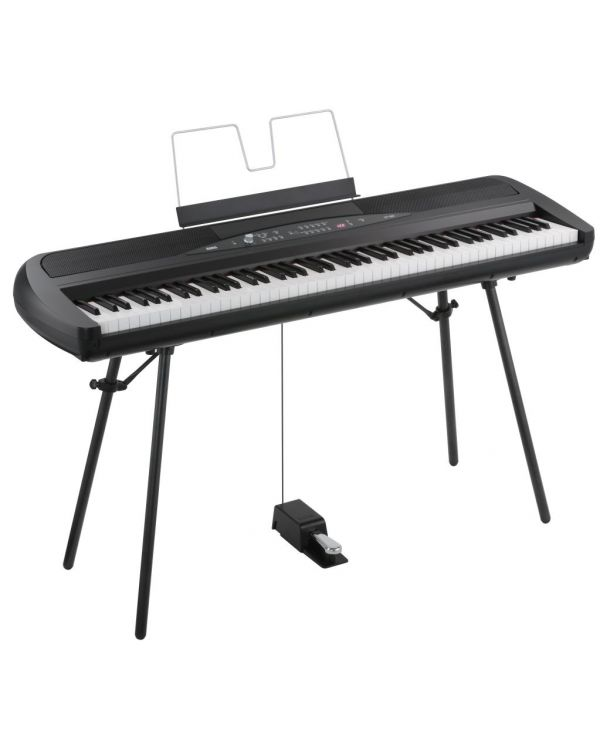 Korg SP-280 Digital Piano with Pedal and Stand (Black)