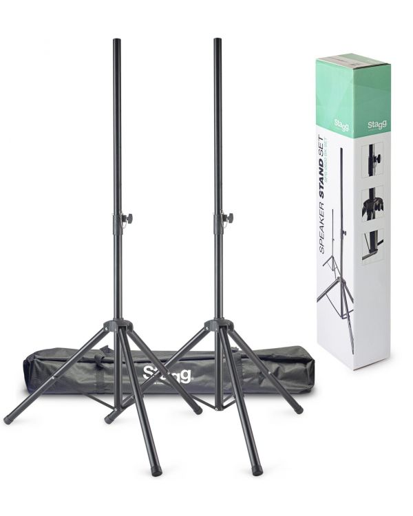 Stagg SPS-0620 BK PA Speaker Stands with Carry Bag