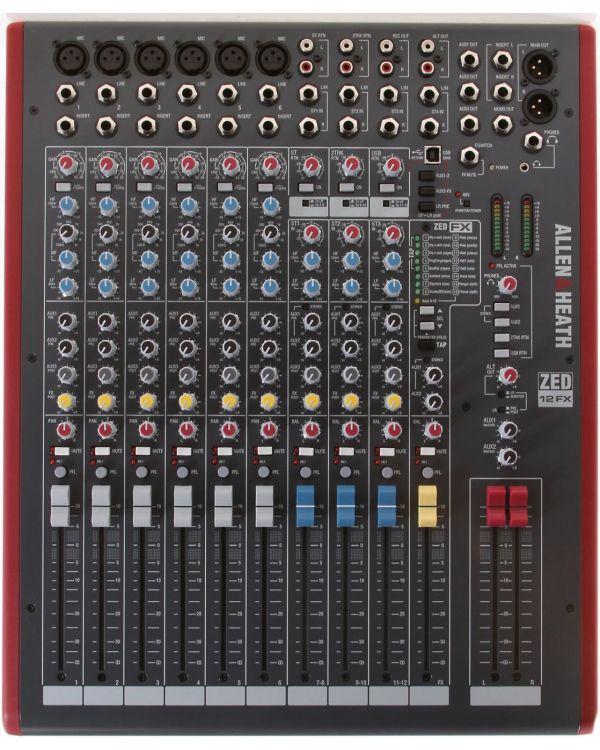 Allen & Heath ZED12FX 12 Channel USB Mixing Desk