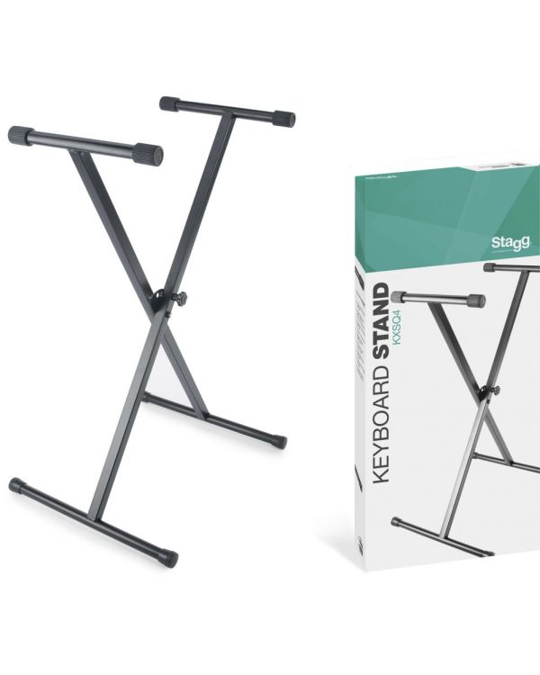 Stagg KXSQ4 Single Braced X-Style Keyboard Stand Welded