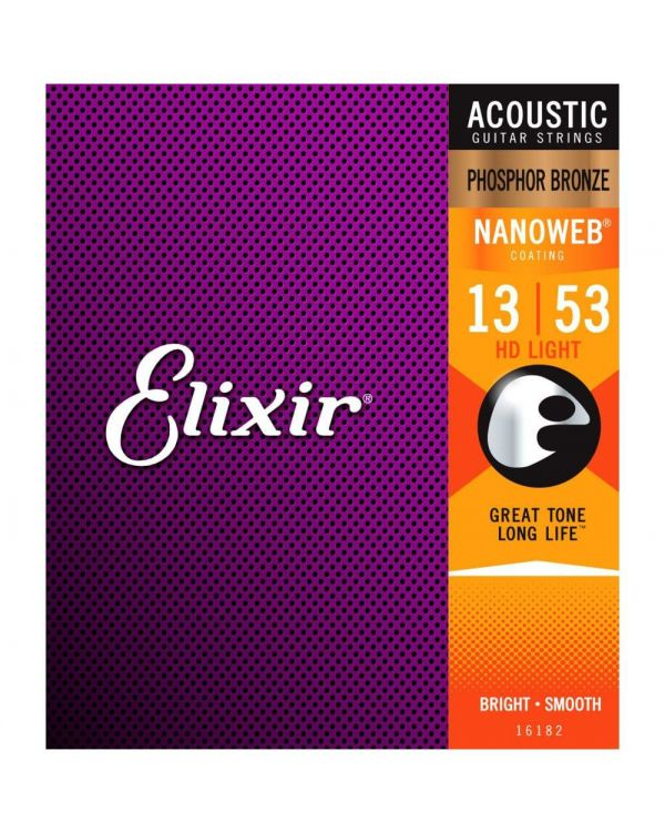 Elixir Phos. Bronze NANOWEB Acoustic Strings Light-Medium 12-56