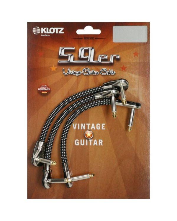 Klotz Vintage 59er Patch Cable, 0.30m Pack of 3