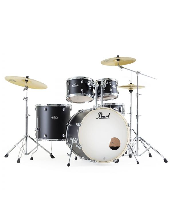 Pearl Export EXX Satin Black Shadow Drum Kit with Hardware and Sabian Cymbals