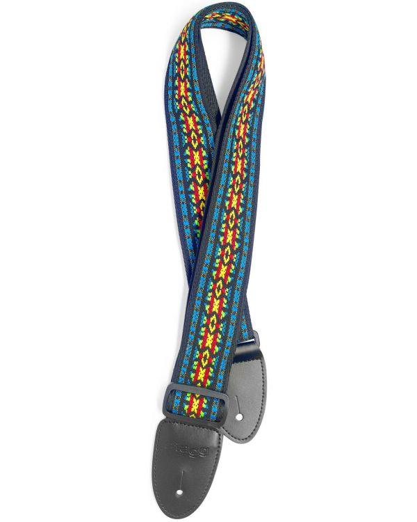 Code Woven Nylon Guitar Strap Rainbow Hootenanny Pattern 2