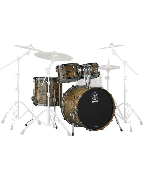 Yamaha Live Custom Hybrid Oak 4 Piece Rock Shell Pack in Natural