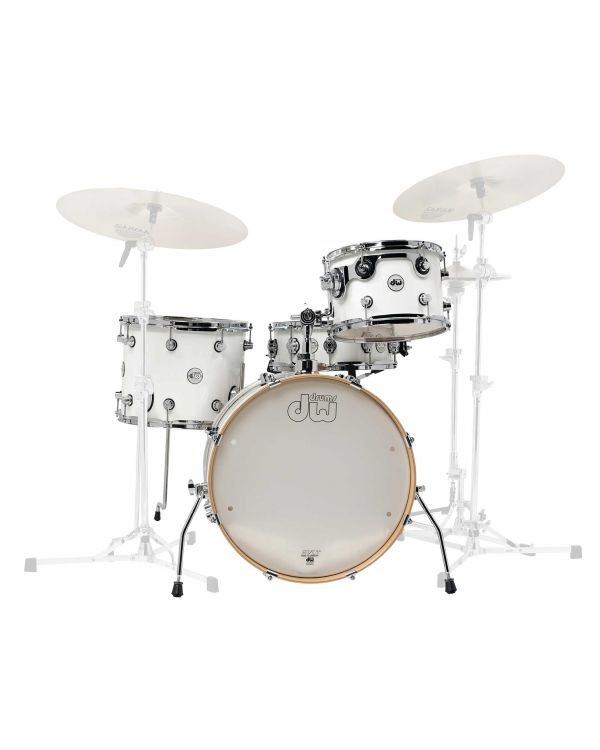 DW Design Series Frequent Flyer White Gloss Lacquer 4 Piece Shell Pack