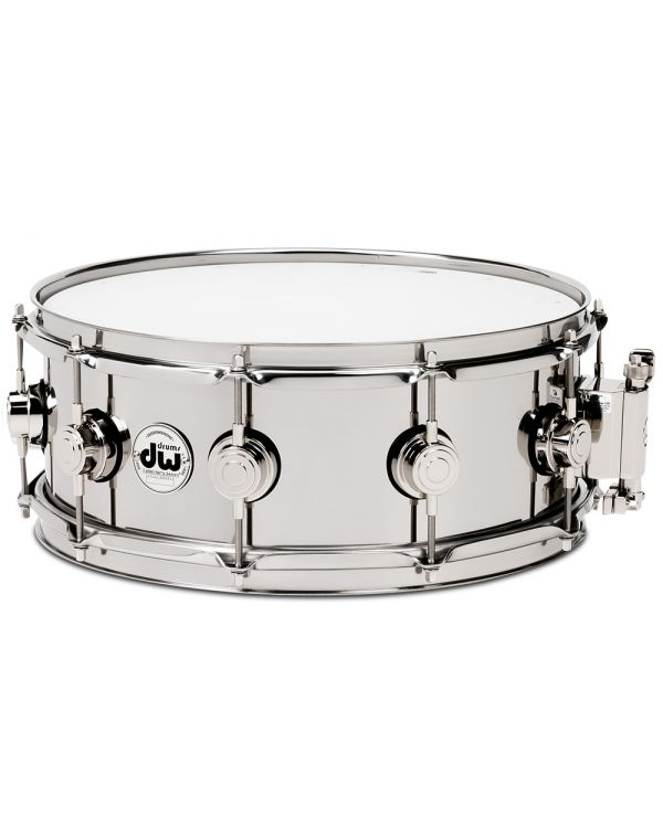 "DW Collectors Stainless Steel 14"" x 5.5"" Snare Drum"