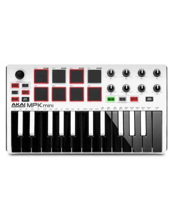 Akai Professional MPK Mini 2 White Black Keys