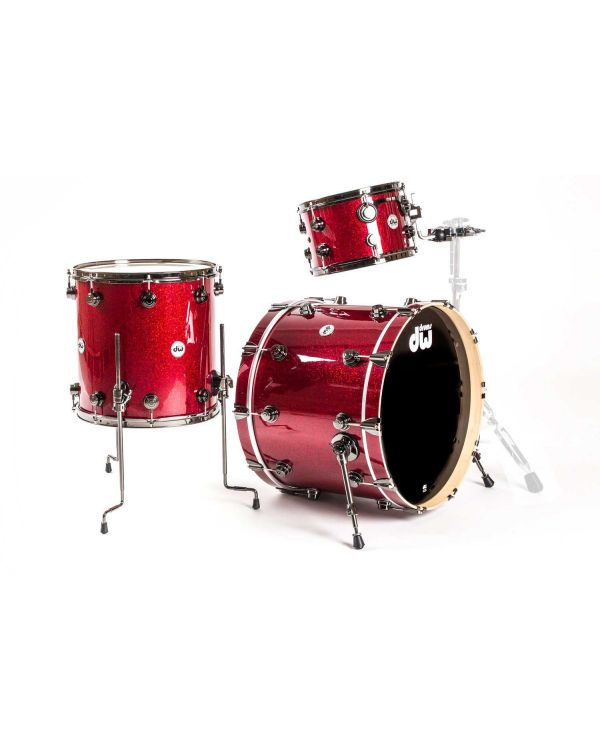 DW Collectors Series Maple SSC 3-Piece Shell Pack in Ruby Glass