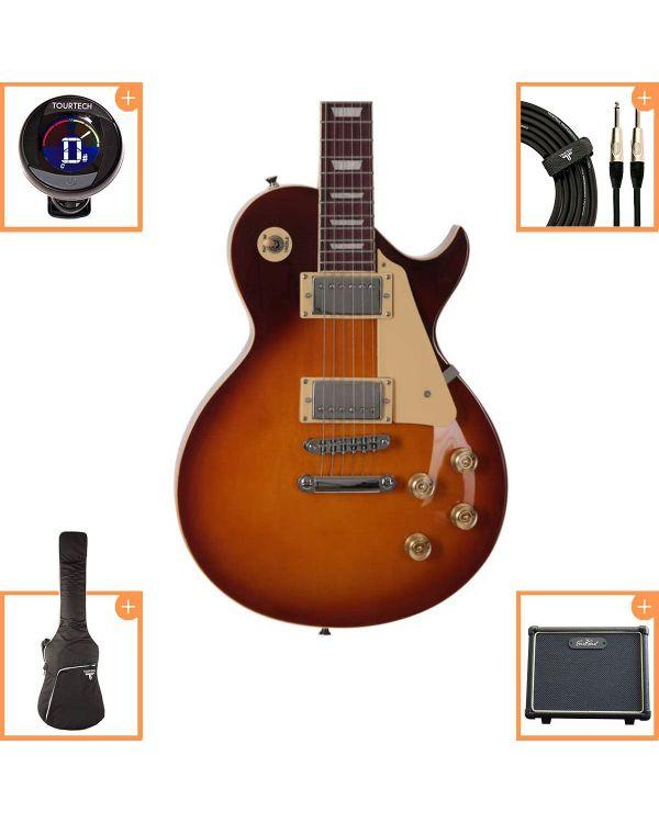 Eastcoast GL20 Electric Guitar Starter Pack Tobacco Sunburst