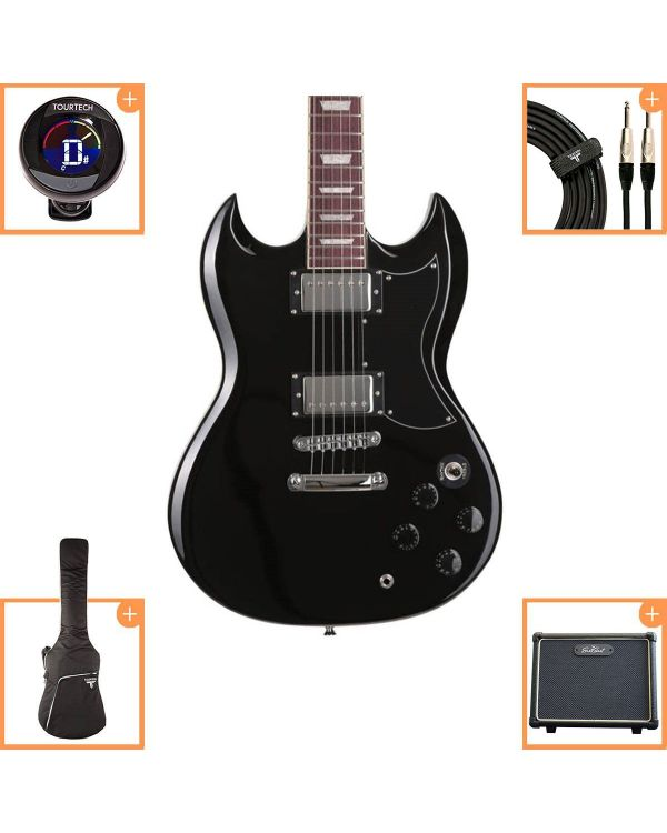 Eastcoast GS10 Electric Guitar Starter Pack Black