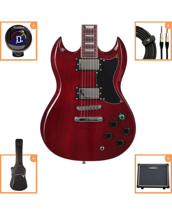 Eastcoast GS10 Electric Guitar Starter Pack Cherry