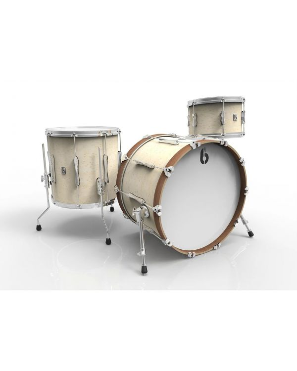 "British Drum Co. Lounge Series 22"" 3-Piece Shell Pack in Wiltshire White"