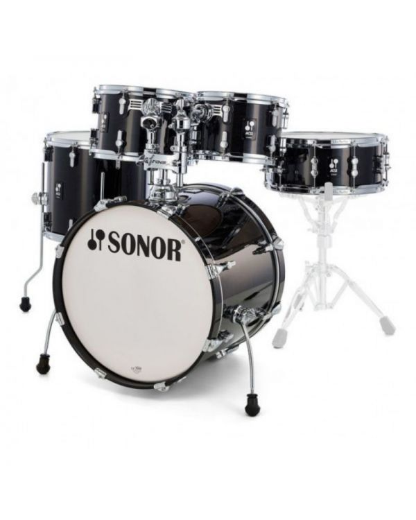 Sonor AQ2 Stage Set Shell Pack in Transparent Stain Black