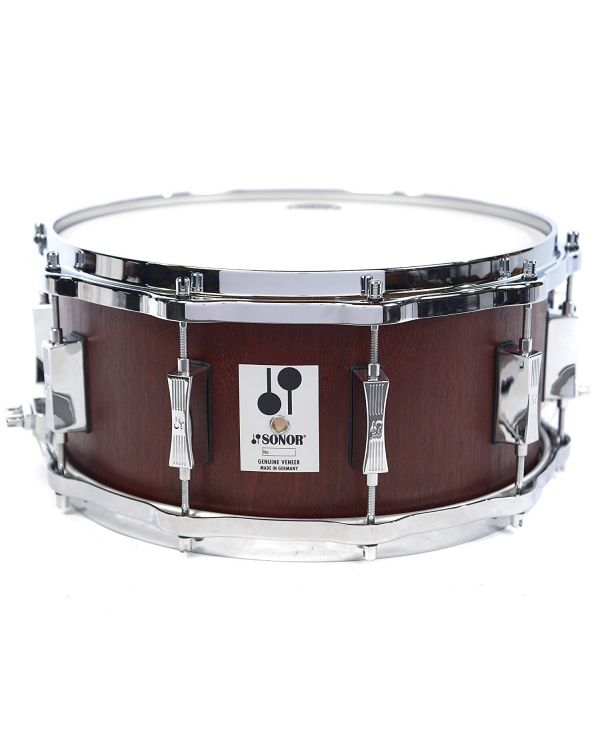 "Sonor Phonic Re-Issue Beech 14"" x 6.5"" Snare Drum Mahogany Finish"