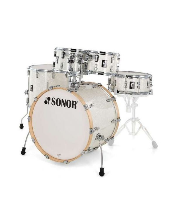 Sonor AQ2 Studio Set Shell Pack in White Pearl