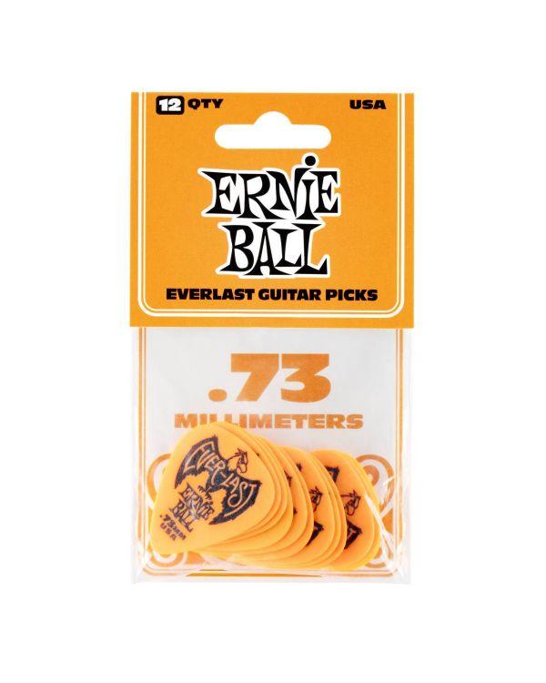 Ernie Ball Everlast 0.73mm Guitar Picks Orange (Pack of 12)