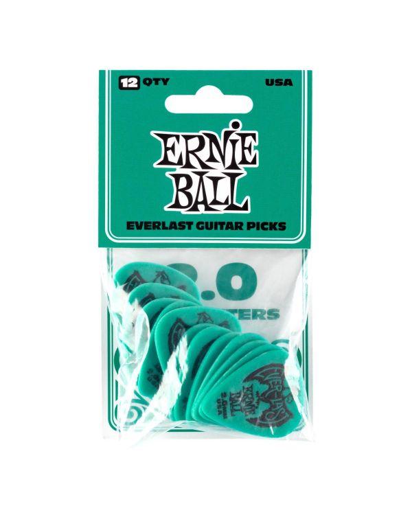 Ernie Ball Everlast 2.0mm Guitar Picks Teal (Pack of 12)