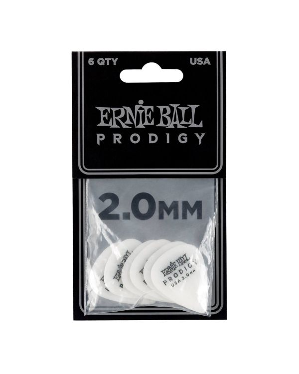 Ernie Ball Prodigy Standard 2.0mm Guitar Picks (6 Pack)