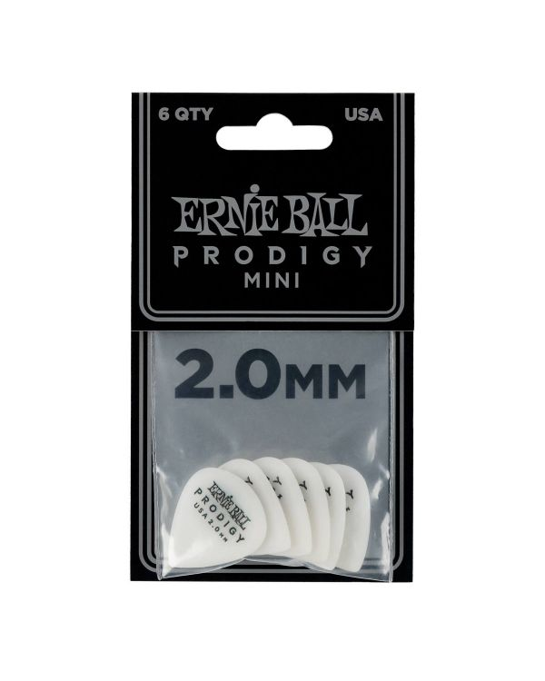 Ernie Ball Prodigy Mini 2.0mm Guitar Picks (6 Pack)