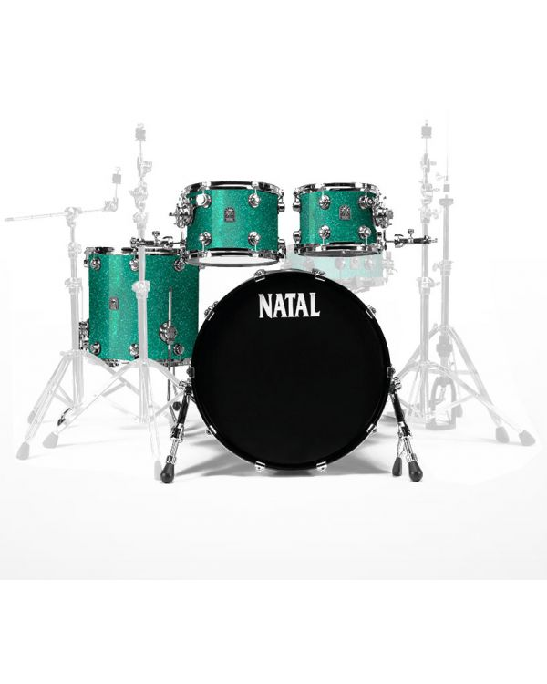 """Natal Cafe Racer 22"""" Shell Pack in British Racing Green Sparkle"""