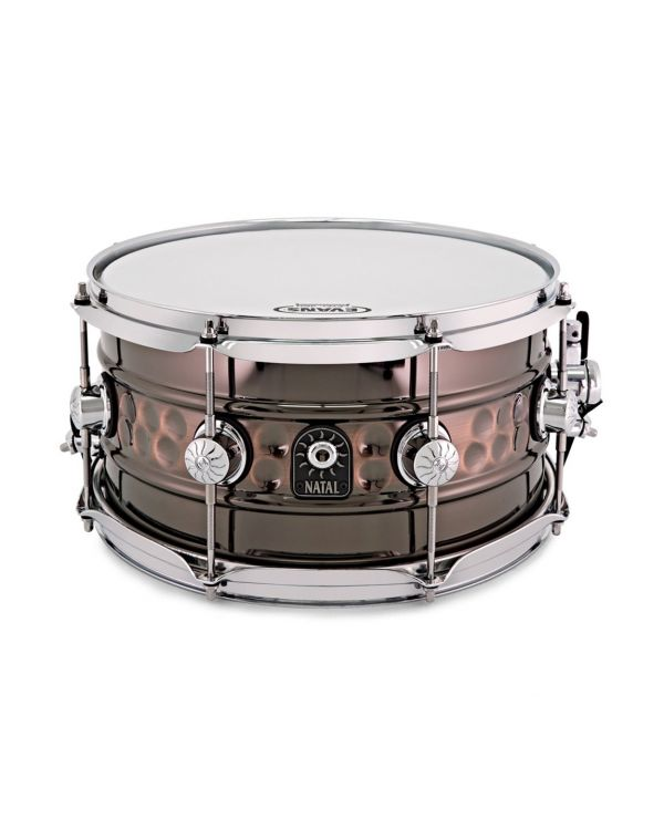 """Natal Beaded/Hammered Steel 13"""" x 7"""" Snare Drum"""
