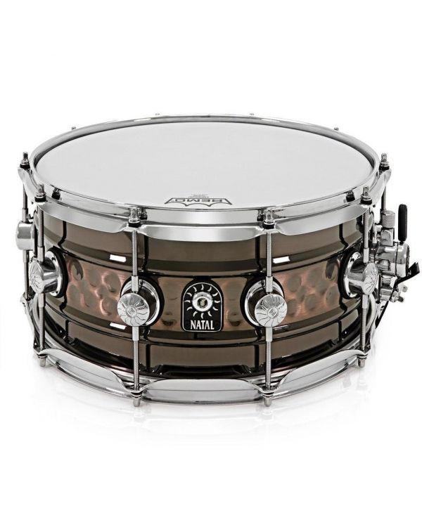 """Natal Beaded/Hammered Steel 14"""" x 7"""" Snare Drum"""