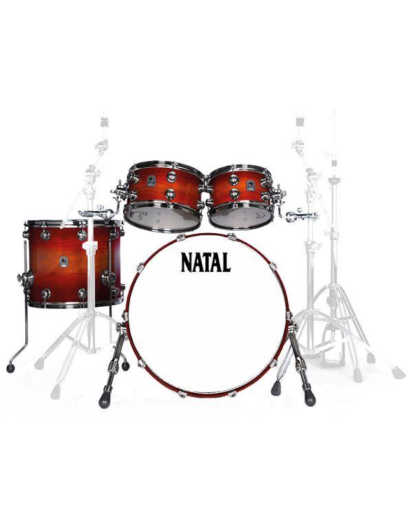 """Natal Originals Walnut 20"""" Shell Pack in Sunburst"""