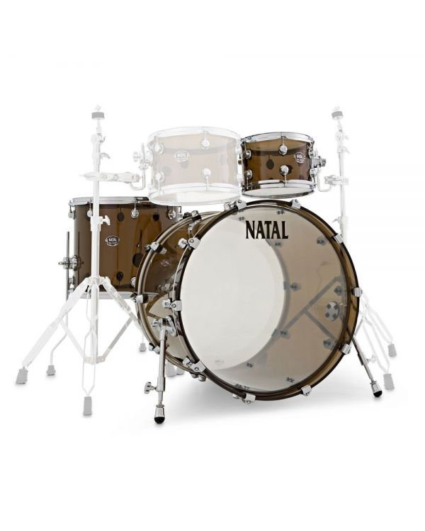 """Natal Arcadia Acrylic 22"""" Shell Pack in Transparent Grey"""