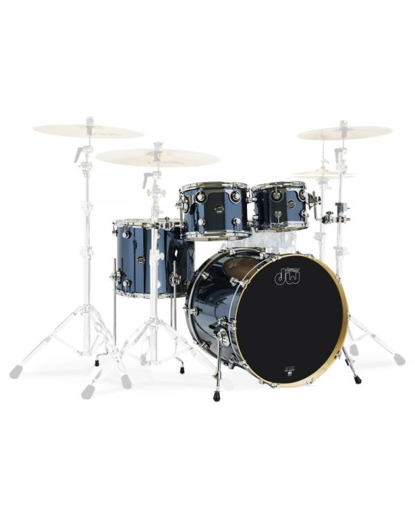 """DW Performance Series 22""""/16"""" 4-Piece Shell Pack, Chrome Shadow"""