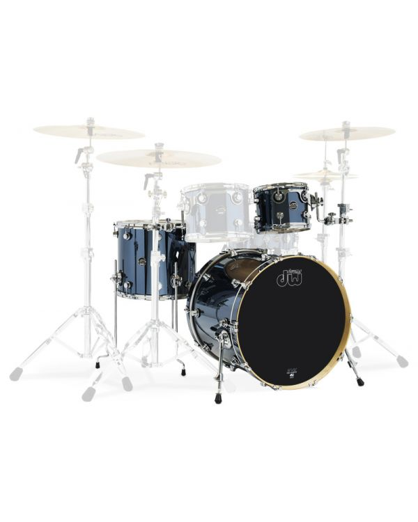 "DW Performance Series 22"" 3-Piece Shell Pack in Chrome Shadow"