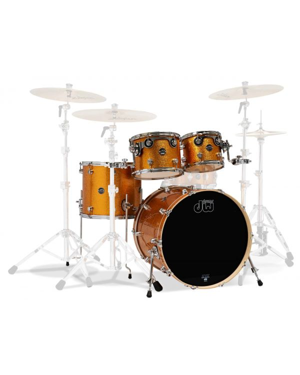"DW Performance Series 22""/14"" 4-Piece Shell Pack, Gold Sparkle"