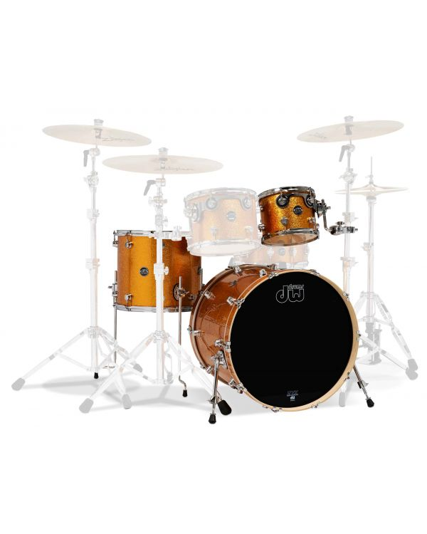 "DW Performance Series 22"" 3-Piece Shell Pack in Gold Sparkle"