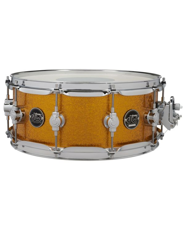 "DW Performance Series 14"" x 6.5"" Snare Drum in Gold Sparkle"