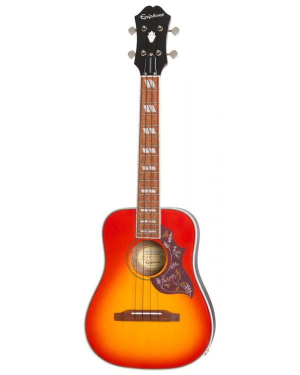 Epiphone Hummingbird Tenor Ukulele Outfit Faded Cherry Sunburst