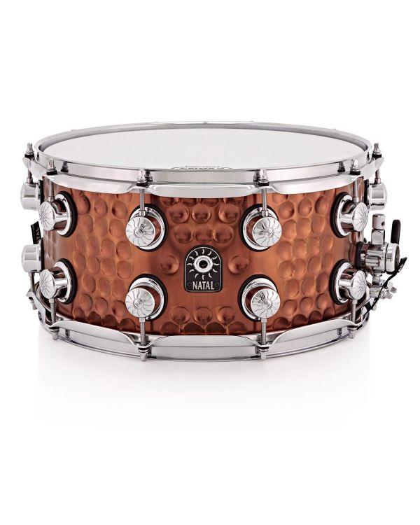 "Natal Hand Hammered Steel 13"" x 7"" Snare Drum"