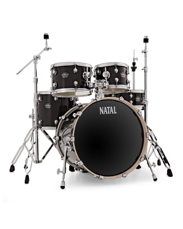"""Natal Arcadia Poplar 22"""" Shell Pack in Black with Hardware"""