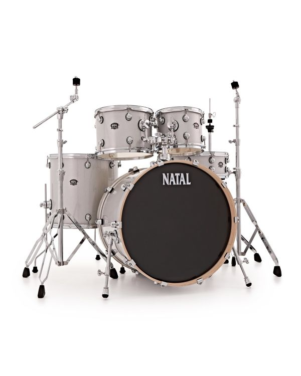 """Natal Arcadia Poplar 22"""" Shell Pack in White Sparkle with Hardware"""